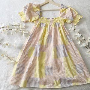 UO Pastel Smocked Babydoll Dress